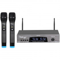 RADIOMICROFONO UHF AUDIODESIGN PA MU 30 + 2 MICROFONI WIRELESS