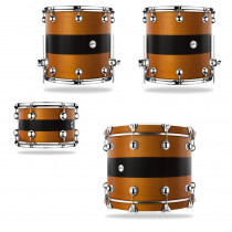 DRUM SOUND AMBRA W/BLACK STRIPE