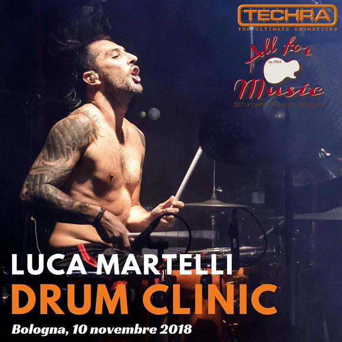 LUCA MARTELLI: Drum Clinic TECHRA