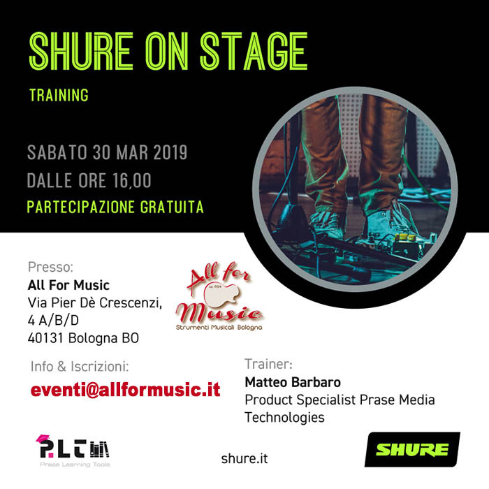 Shure On Stage Training - All For Music