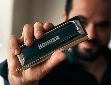 Armoniche a bocca Hohner da blues, rock jazz