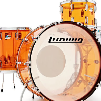 Batteria acustica Ludwig Vistalite Amber